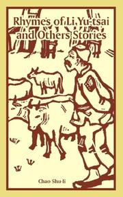 Cover of: Rhymes of Li Yu-tsai And Others Stories