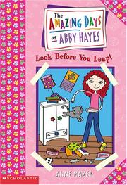 Cover of: Look before you leap | Anne Mazer