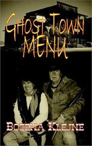 Cover of: Ghost Town Menu | Bozena T. Klejne