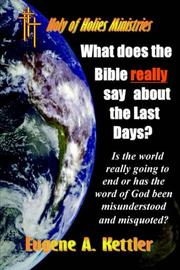 Cover of: What does the Bible really say about the last days?