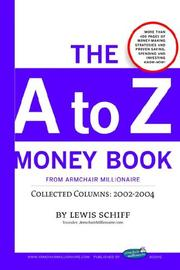 Cover of: The A to Z Money Book from Armchair Millionaire
