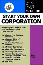 Cover of: Start Your Own Corporation