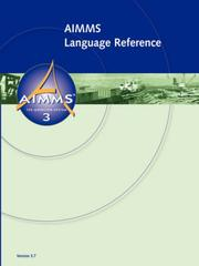 Cover of: AIMMS - Language Reference | Johannes Bisschop