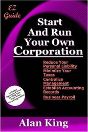 Cover of: Start And Run Your Own Corporation