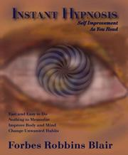 Cover of: Instant Hypnosis