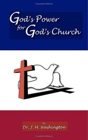 Cover of: God/s Power for God/s Church | Dr. J.M. Washington