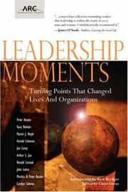 Cover of: Leadership Moments | Arthur L. Jue