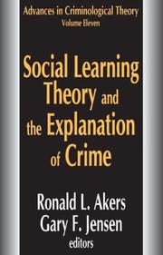 Cover of: Social Learning Theory and the Explanation of Crime |