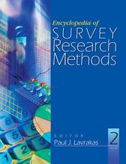 Cover of: Encyclopedia of Survey Research Methods