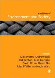 Cover of: The SAGE Handbook of Environment and Society |