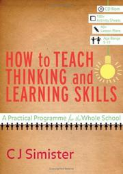 Cover of: How to Teach Thinking and Learning Skills | Catherine Jane Simister