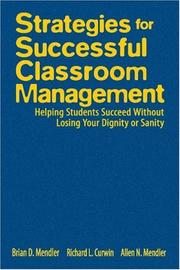 Cover of: Strategies for successful classroom management