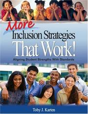 Cover of: More Inclusion Strategies That Work!