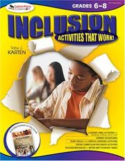 Cover of: Inclusion Activities That Work! Grades 6-8