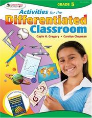 Activities for the Differentiated Classroom by Gayle H. Gregory