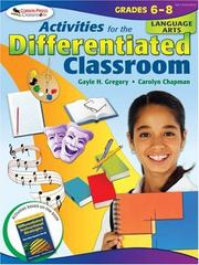Cover of: Activities for the Differentiated Classroom | Gayle H. Gregory