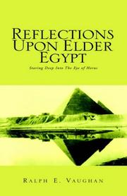 Cover of: Reflections Upon Elder Egypt | Ralph E. Vaughan