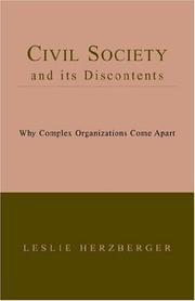 Cover of: Civil Society And Its Discontents