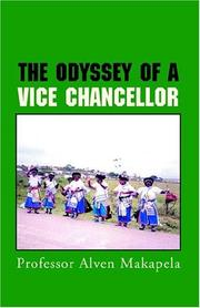 Cover of: The Odyssey Of A Vice Chancellor
