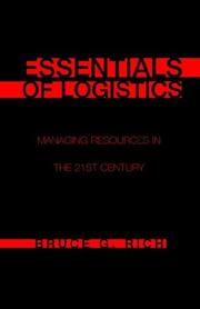 Cover of: Essentials of Logistics | Bruce G. Rich