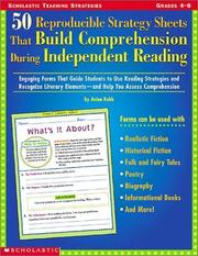 Cover of: 50 Reproducible Strategy Sheets That Build Comprehension During Independent Reading  (Grades 4-8) | Anina Robb
