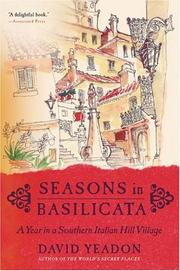 Cover of: Seasons in Basilicata | David Yeadon