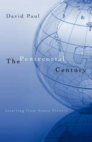 Cover of: THE PENTECOSTAL CENTURY
