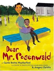 Cover of: Dear Mr. Rosenwald