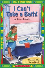 Cover of: I can't take a bath!