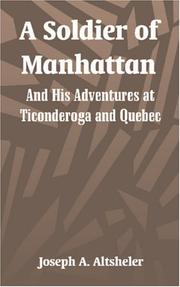 Cover of: A soldier of Manhattan