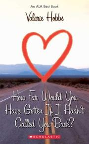Cover of: How Far Would You Have Gotten If I Hadn't Called You Back? (Point)
