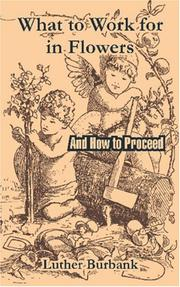 Cover of: What to Work for in Flowers: And How to Proceed