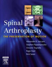 Cover of: Spinal Arthroplasty with DVD | Alexander R. Vaccaro
