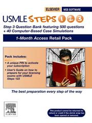Cover of: USMLE Steps 123 Step 3 Question Bank and Step 3 CCS 1 month access Retail Pack | STUDENT CONSULT