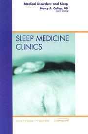 Cover of: Medical Disorders and Sleep, An Issue of Sleep Medicine Clinics | Nancy A. Collop
