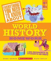 Cover of: Everything you need to know about world history homework