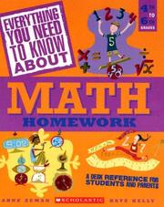 Cover of: Everything you need to know about math homework