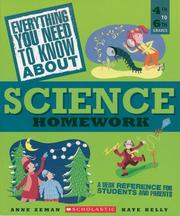Cover of: Everything you need to know about science homework