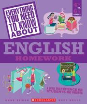Cover of: Everything You Need...english To Know About English Homework (Everything You Need to Know About)