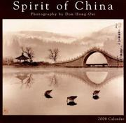 Cover of: Spirit of China 2008 Wall Calendar | Don Hong Oai