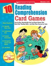 Cover of: 10 Reading Comprehension Card Games | Elaine Richard