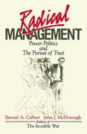 Cover of: Radical Management | Samuel A. Culbert