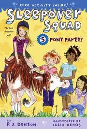 Cover of: Pony Party! (Sleepover Squad)