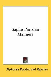 Cover of: Sapho Parisian Manners