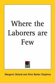 Cover of: Where the laborers are few