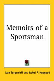 Cover of: Memoirs of a sportsman