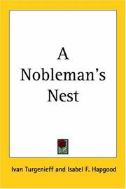 Cover of: A nobleman's nest: a novel
