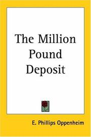 Cover of: The million pound deposit