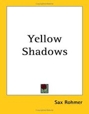 Cover of: Yellow shadows