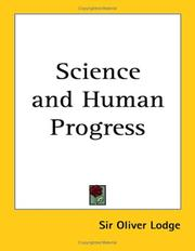 Cover of: Science and Human Progress